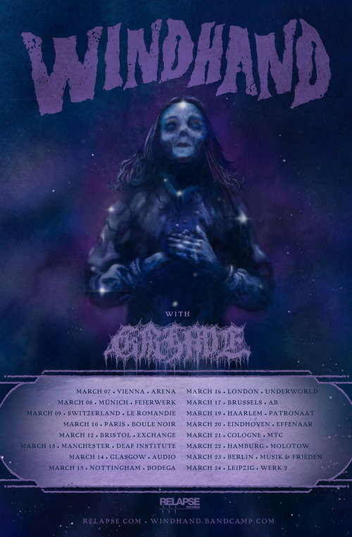 Windhand will tour Europe in March of 2019.