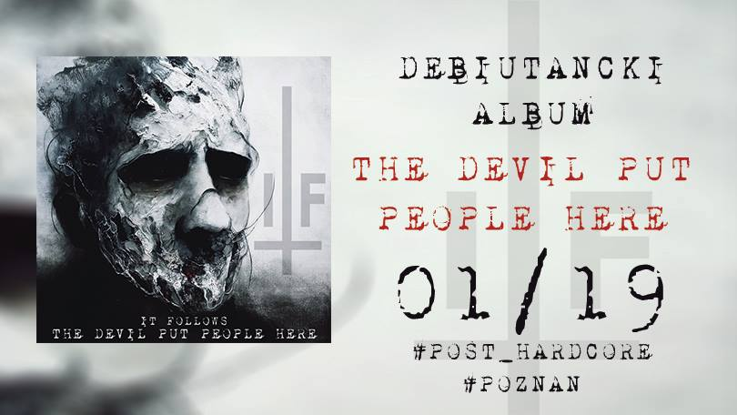 """Catch It Follows's debut EP """"The Devil Put People Here"""" on the 19th of January. 2019. Check your audio streaming platform for availability."""