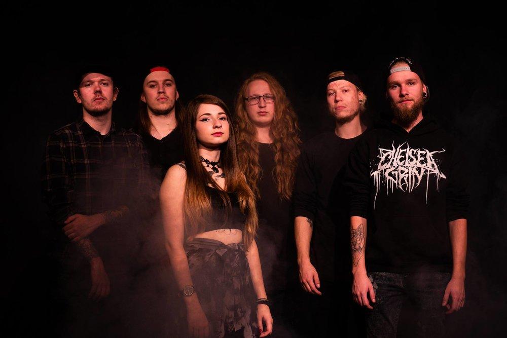 Hanging The Nihilist is: Marc Buch - Vocals, Jon Arent - Guitar, Casper Hollstein - Guitar, Berna Baki - Keys, William Ehlert - Bass, and Emil Juhl - Drums