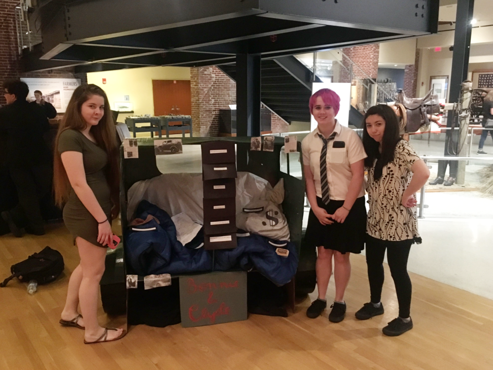 Students presenting their displays at the Frazier History Museum.