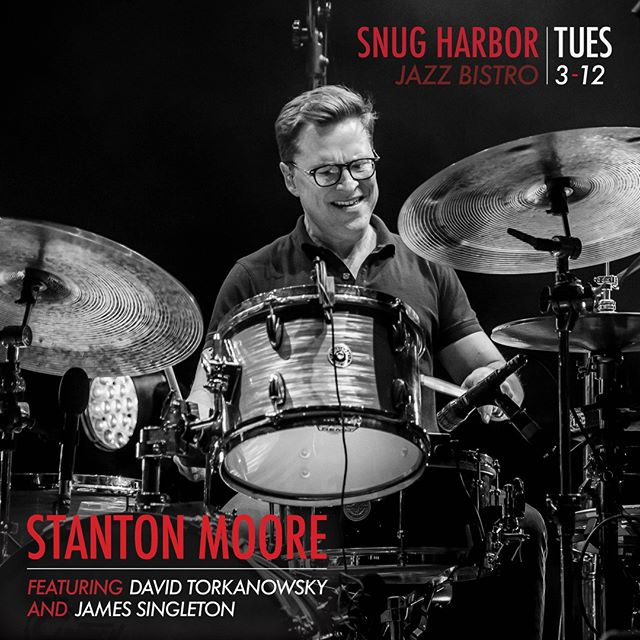 I play @snugjazz_nola tomorrow night with David Torkanowsky on piano and James Singleton on bass. We play sets at 8pm and 10pm. Grab tickets at SnugHarborJazzBistro.com See you tomorrow.⠀⠀ ⠀⠀ #SnugHarborJazz #StantonMoore #DavidTorkanowsky #JamesSingleton #Jazz #Drumming #JazzDrums #DrumLife #NOLAJazz