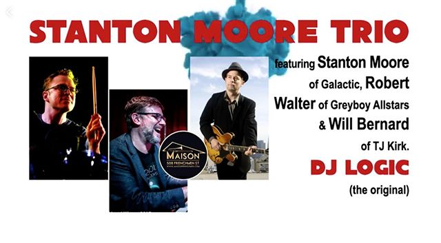 April 25th I'll be playing with @robertwalter and @willbernardmusic for the Stanton Moore Trio at @themaison for the start of Jazz Fest. I'm excited to see everyone who can make it out. ⠀ ⠀ #RobertWalters #WillBernard #JazzFest #StantonMooreTrio #StantonMoore #TheMaison #Jazz