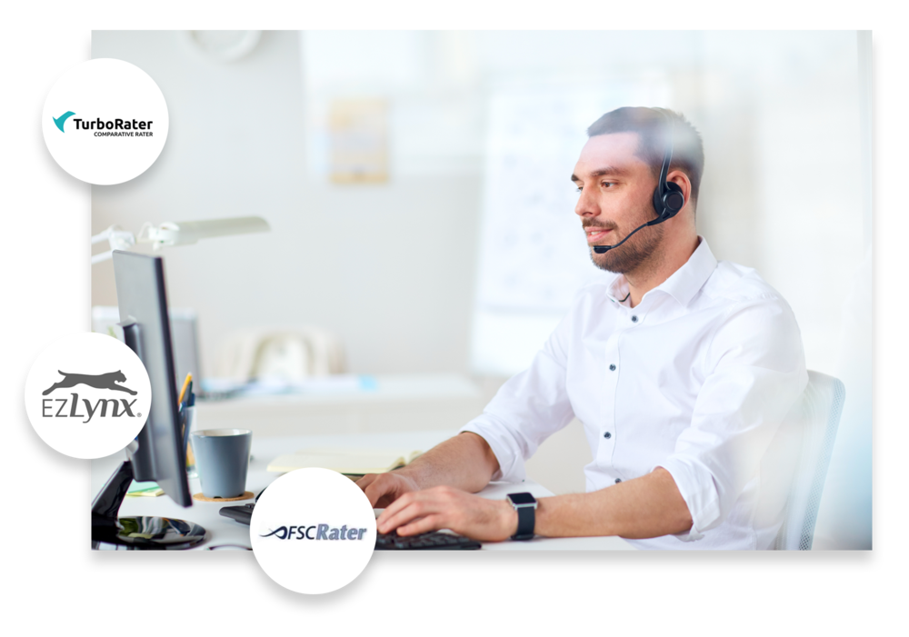 Integrate with quoting engines. - Give your clients accurate rates across multiple carriers within seconds using a single entry screen and sync with consumer databases.