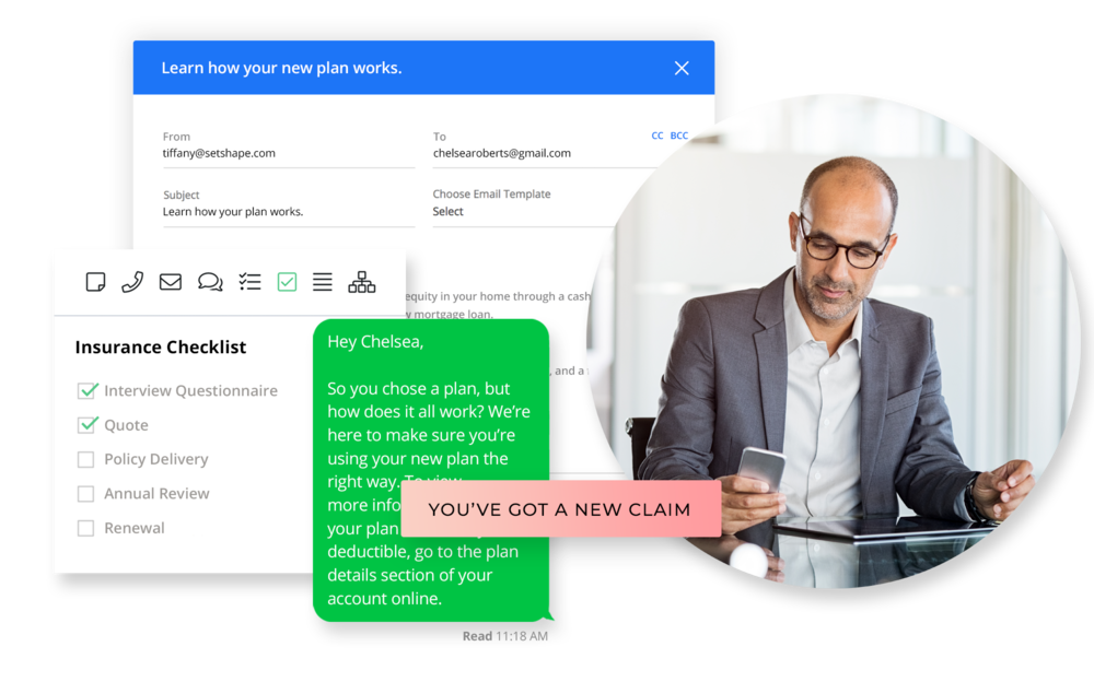 Follow up automatically. - Send perfectly timed follow ups, automated campaigns, status updates, payment reminders, and more.