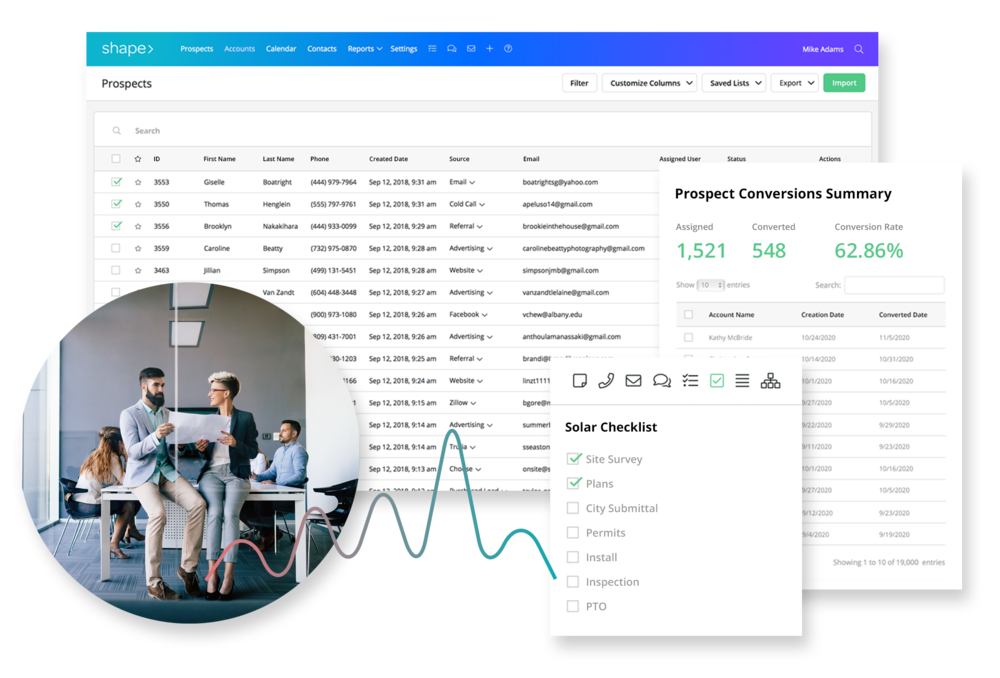 Manage your pipeline. - Manage your workflow, projects, and contacts while tracking commissions in one place, with ultimate visibility.