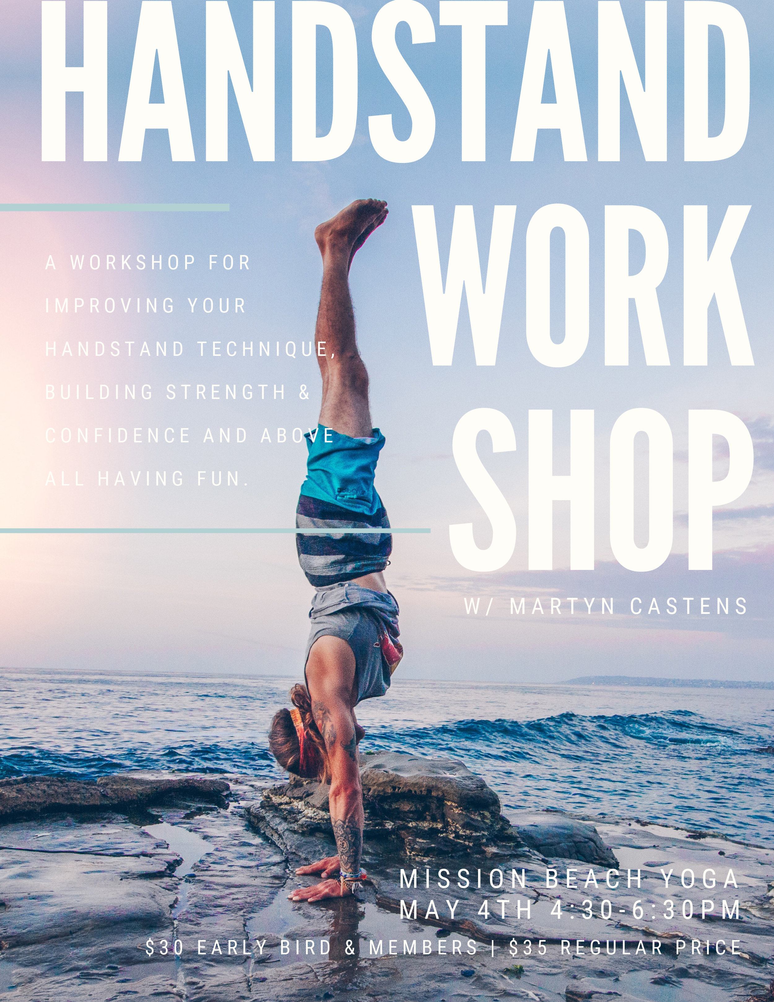 Handstand Workshop with Martyn Castens — Mission Beach Yoga