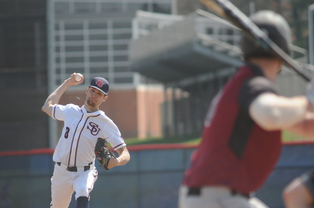 Gabe Mosser delivering a pitch for Shippensburg University. Photo credit: Bill Smith/Shippensburg University