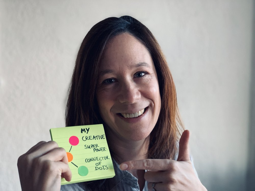 """My creative super power is """"connecting the dots"""". What's yours?"""