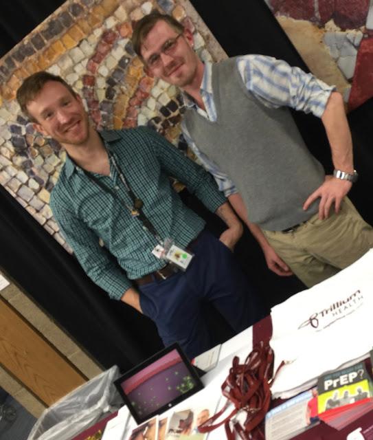 Dr. Michael Lecker and Josh Elsenhemier at the Jewish Community Center