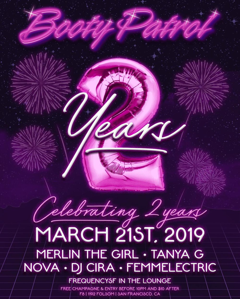 Booty Patrol: 2 Year Anniversary with FrequencySf - Thursday, March 21 @ 9pm @ F8 Nightclub