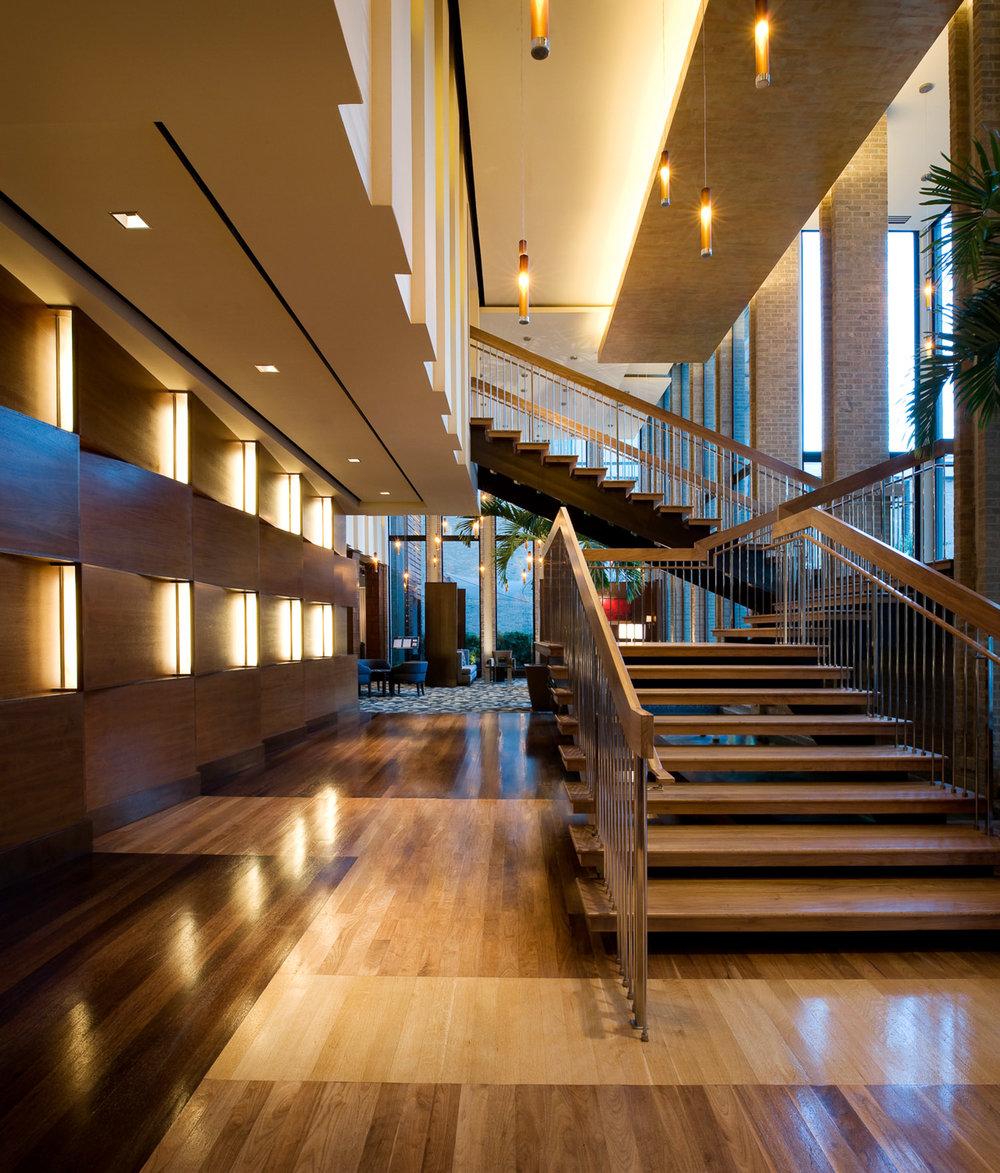 Kimpton Hotel lobby photography, Kimpton Hotel Dallas, InterContinental Hotel Group, luxury hotel photography, hotel photography, architecture photography