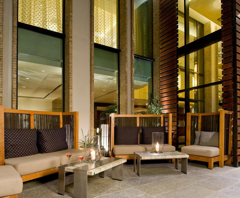 Kimpton Hotel lobby photography, boutique hotels, Dallas hotel photographer, exterior photography