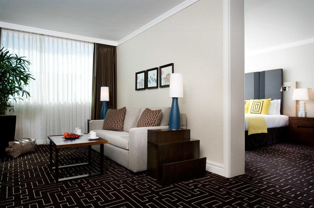 InterContinental Kimpton Hotel suite, lifestyle of hotel photography, hotel photography, resort photography, interior photography