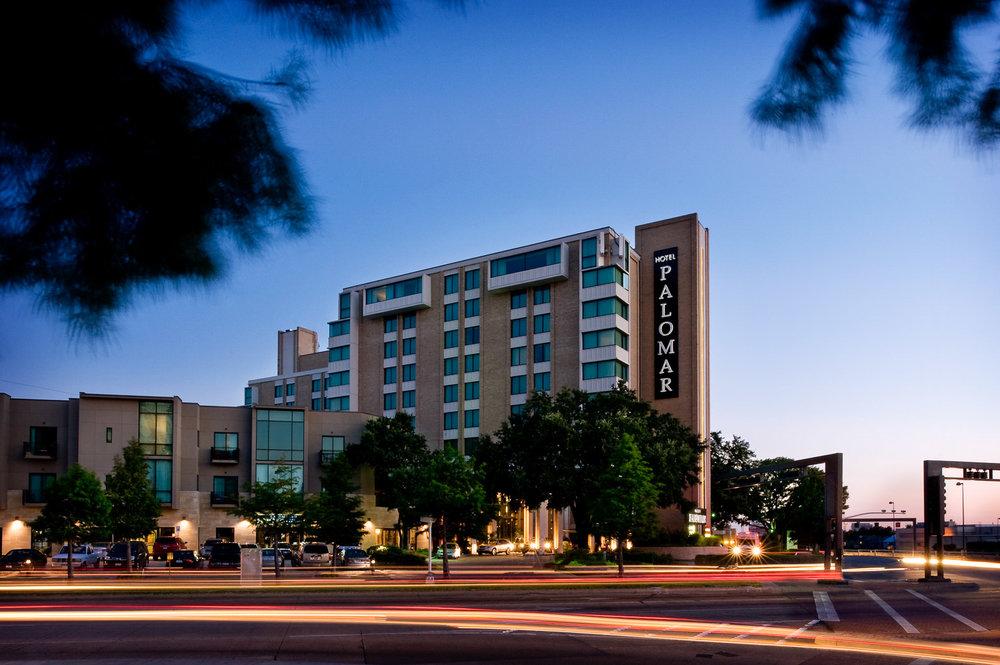 Hotel Palomar exterior in Dallas, Kimpton Palomar photography, hotel photographer, exterior photography