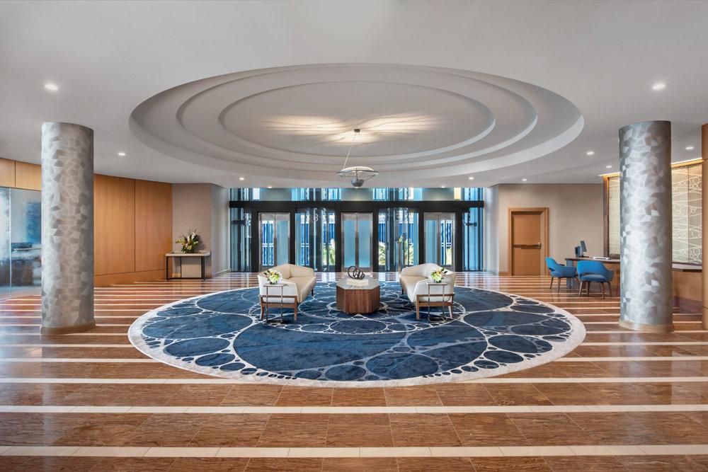 Front lobby of InterContinental, San Diego hotels, international hotel photographer, interior photographer