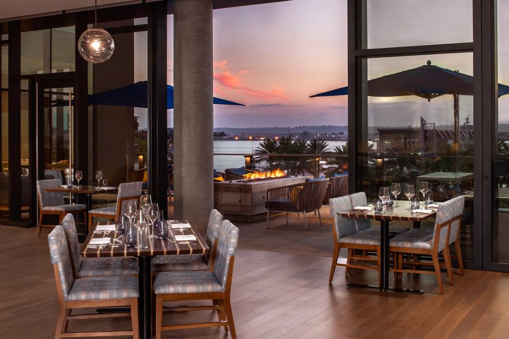 Vistal restaurant, IHG photographer, international luxury hotel, San Diego architecture photography, interior photographer