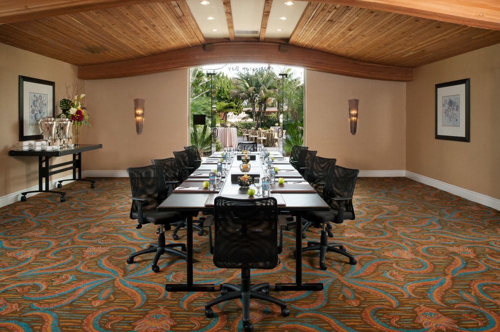 Private conference room at Paradise Point Hotel in Mission Bay, southern California resort photographer