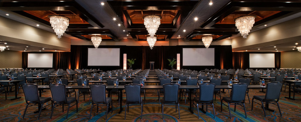 Large conference auditorium, San Diego photographer, hotel photography, architecture photography