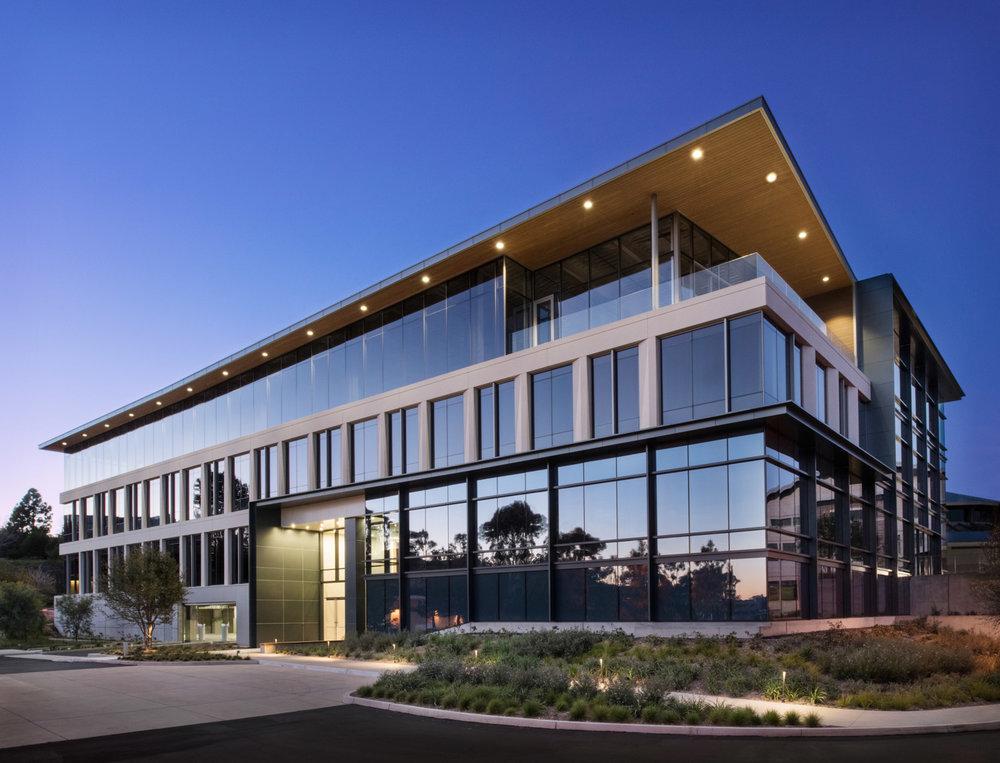 Gensler building in Del Mar, California, architecture photography, Kilroy real estate, del mar heights building, architecure photography