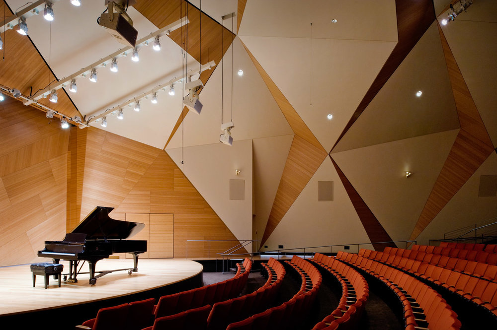 Conrad prebys music hall interior, university california san diego, interior photography