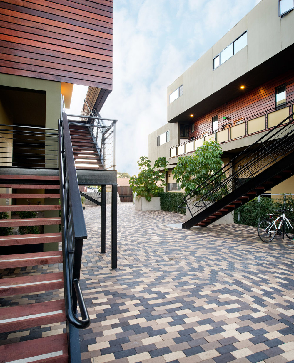 Center Street Loft apartment exterior, Lloyd Russell architects, san diego design, san diego living, architecture photography