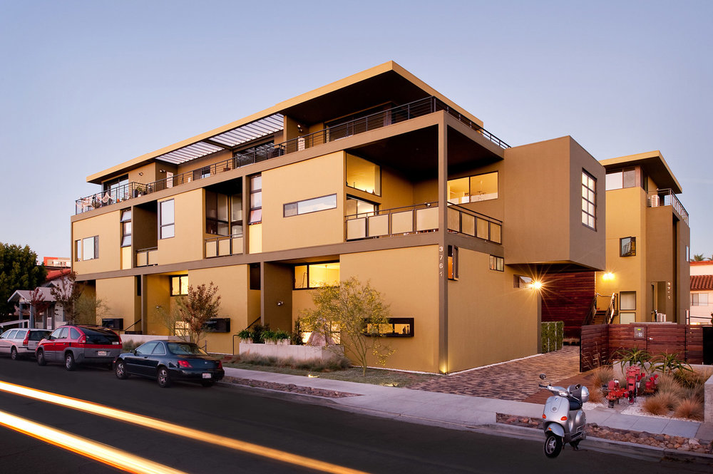 Apartment complex exterior, orchid and onion grand prize, architectural photographer, southern california photographer