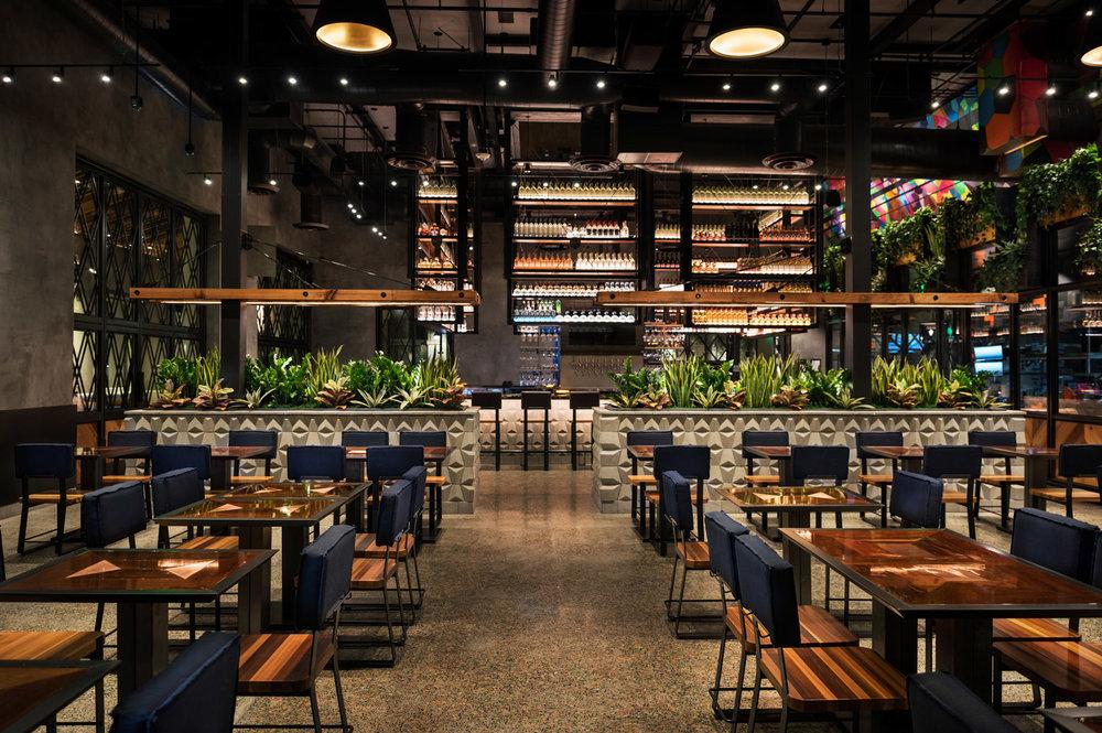 Puesto restaurant interior, San Francisco restaurant photographer, architectural photographer bay area, puesto santa clara