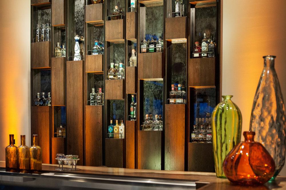 Tequilla bar detail, bar and restaurant photographer, architectural photographer, san diego photographer