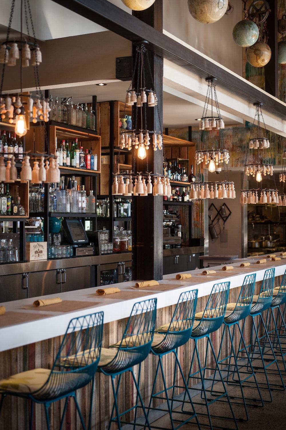 Cucina Enoteca restaurant bar, restaurant photography, detail of restaurant
