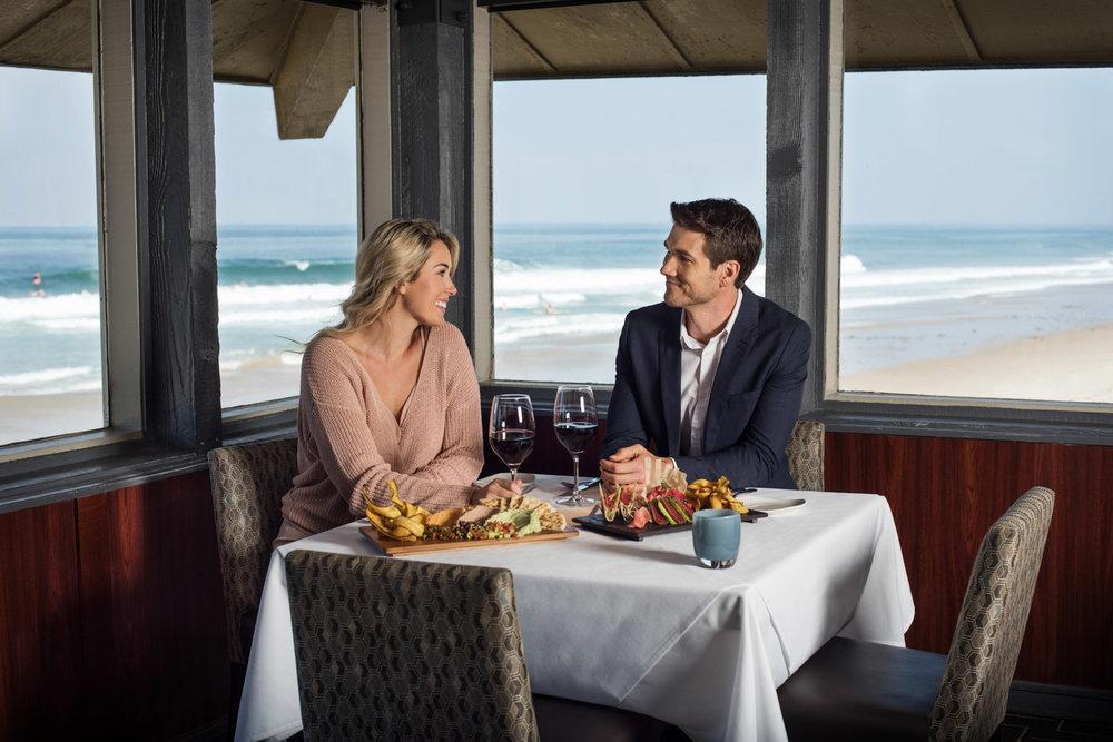 Chart House Restaurant Redondo Beach, coastal restaurant photography, food photographer