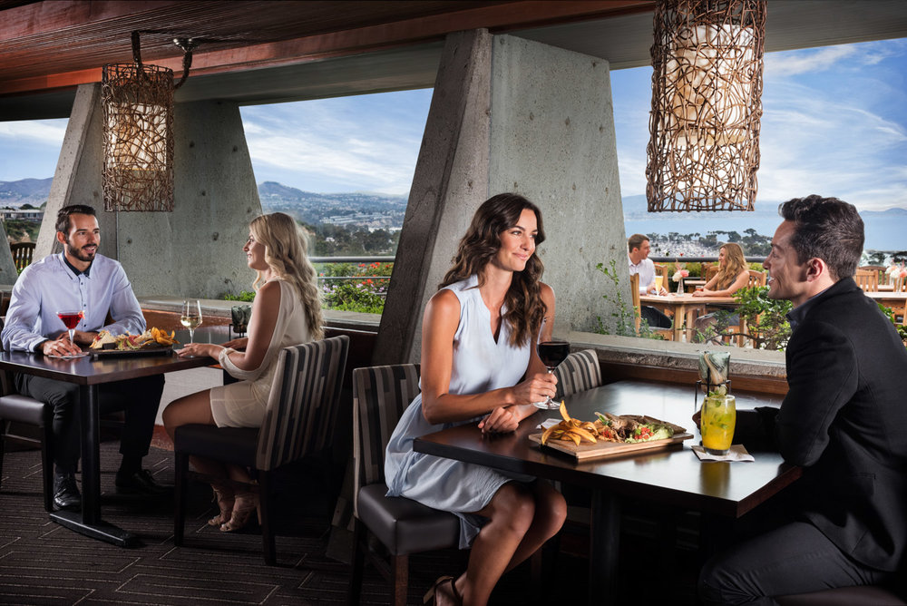 Landrys Chart House restaurant bar in Dana Point, restaurant lounge Dana Point, commercial photography