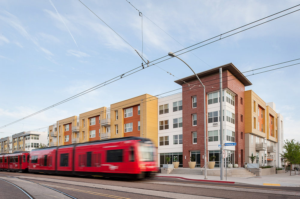 San Diego architecture photography, comm22 bridge housing, building photography