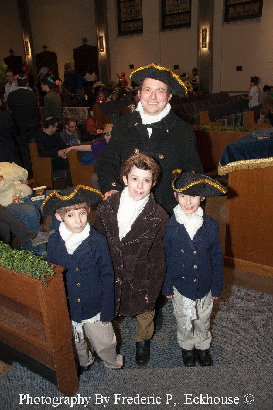 Sara's family dressed as the cast of  Hamilton.