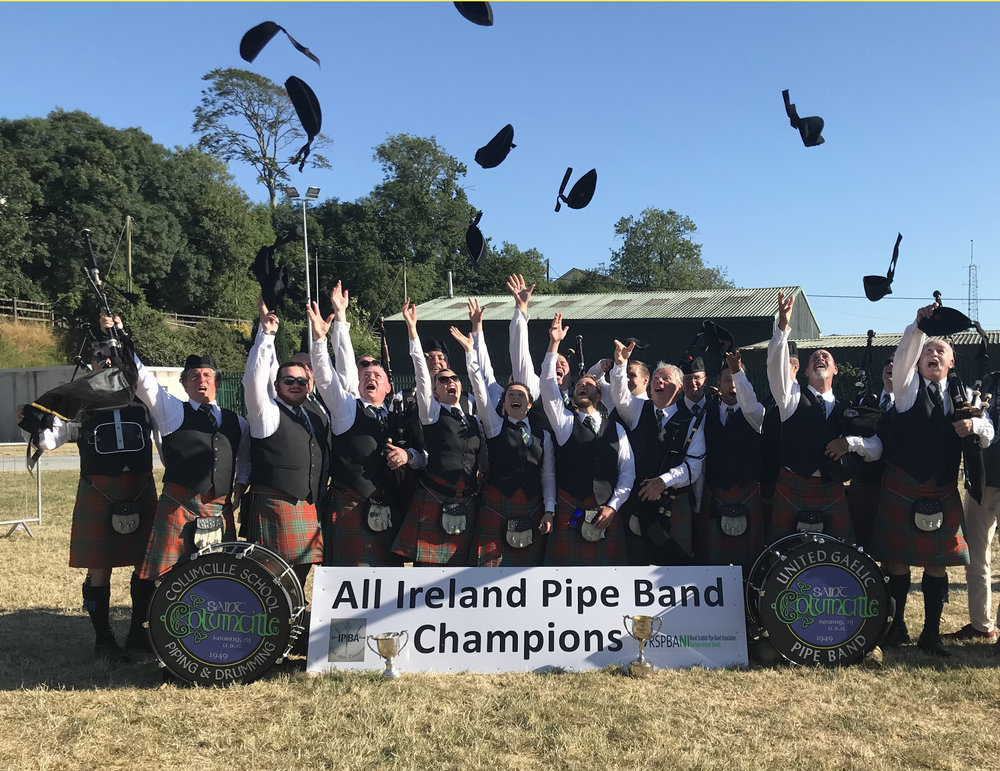 About the Band - The bands of St. Columcille are dedicated to quality bagpiping and drumming and have been very successful in domestic and international competition.