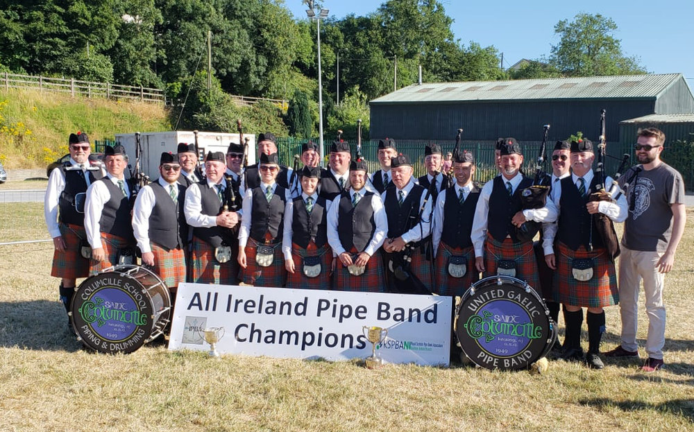 St. Columcille poses in New Ross after their win at the 2018 All-Ireland Championships
