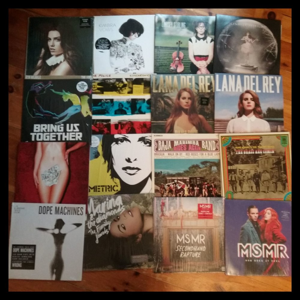 Lana Del Rey, Metric, MSMR, Lindsey Stirling, Kimbra ... 16 albums that came in under $20. Crazy! Awesome! Crazy Awesome!