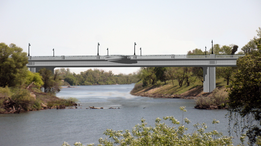 Artist Rendering of the new 5th Street Bridge overlook span looking over the Feather River.