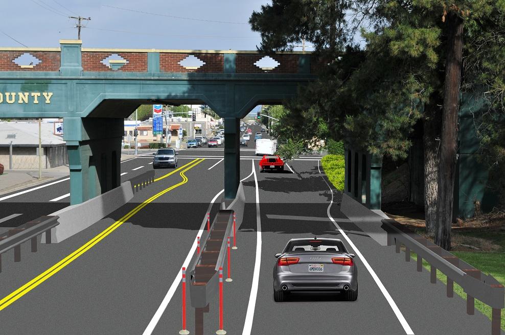 5th Street Bridge east bound off-ramp onto 5th Street in Marysville, CA.