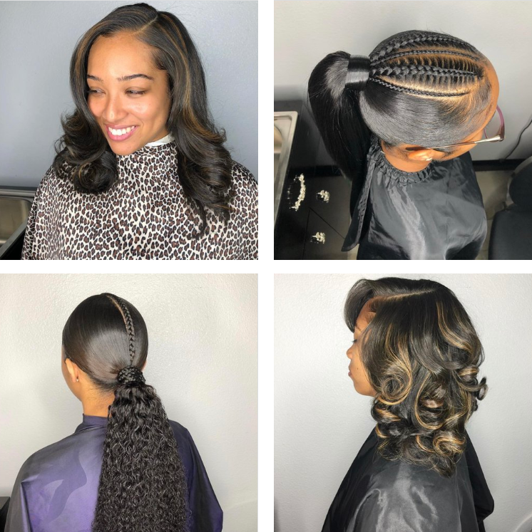 HEALTHY hair glam - I'm a hairstylist with 14 years of experience; a salon owner for 6 years. I've always loved the beauty industry!Click for booking, shop Bravon Hair Extensions or read our feature hair post.