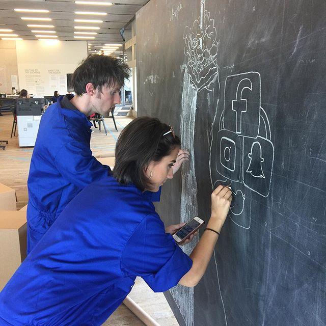 @jamesthorntonart @nadia_lloyd_ collaborating at #inventoryofbehaviours #BSAD #tatemodern