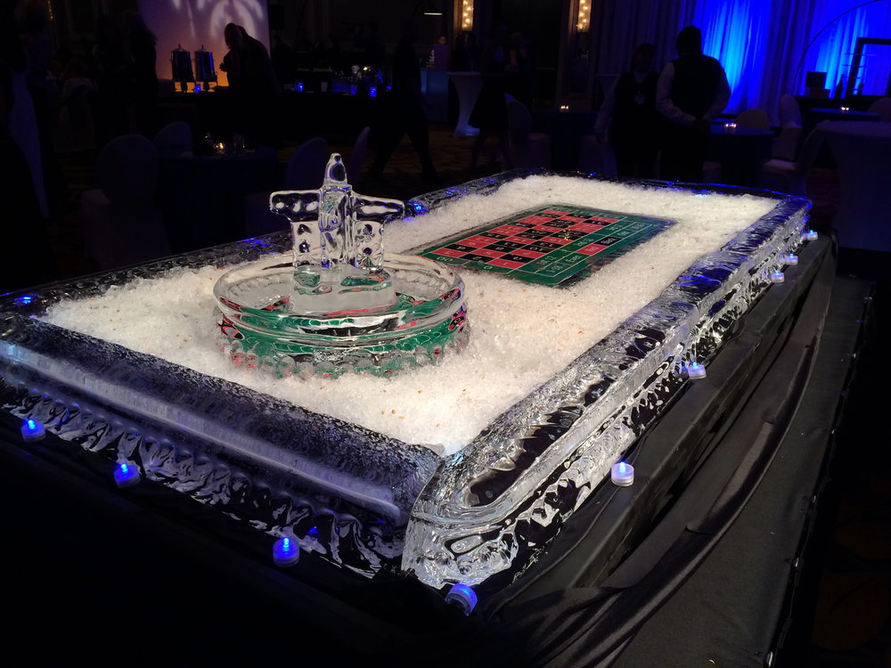 Casino night was never this cool. Enjoy coordinating your ice art with the surroundings.