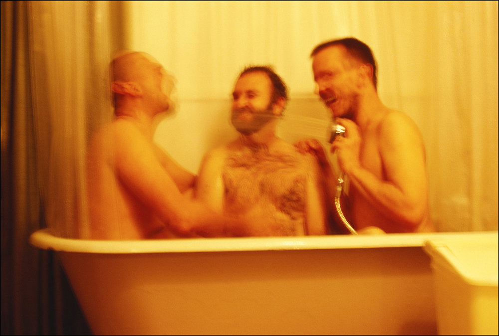 Three Men in the Sigma Clubhouse Tub, 2000