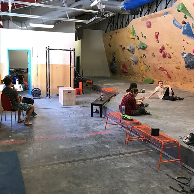A sunny, and admittedly sleepy, Saturday afternoon at the Midwest Climbing Academy.
