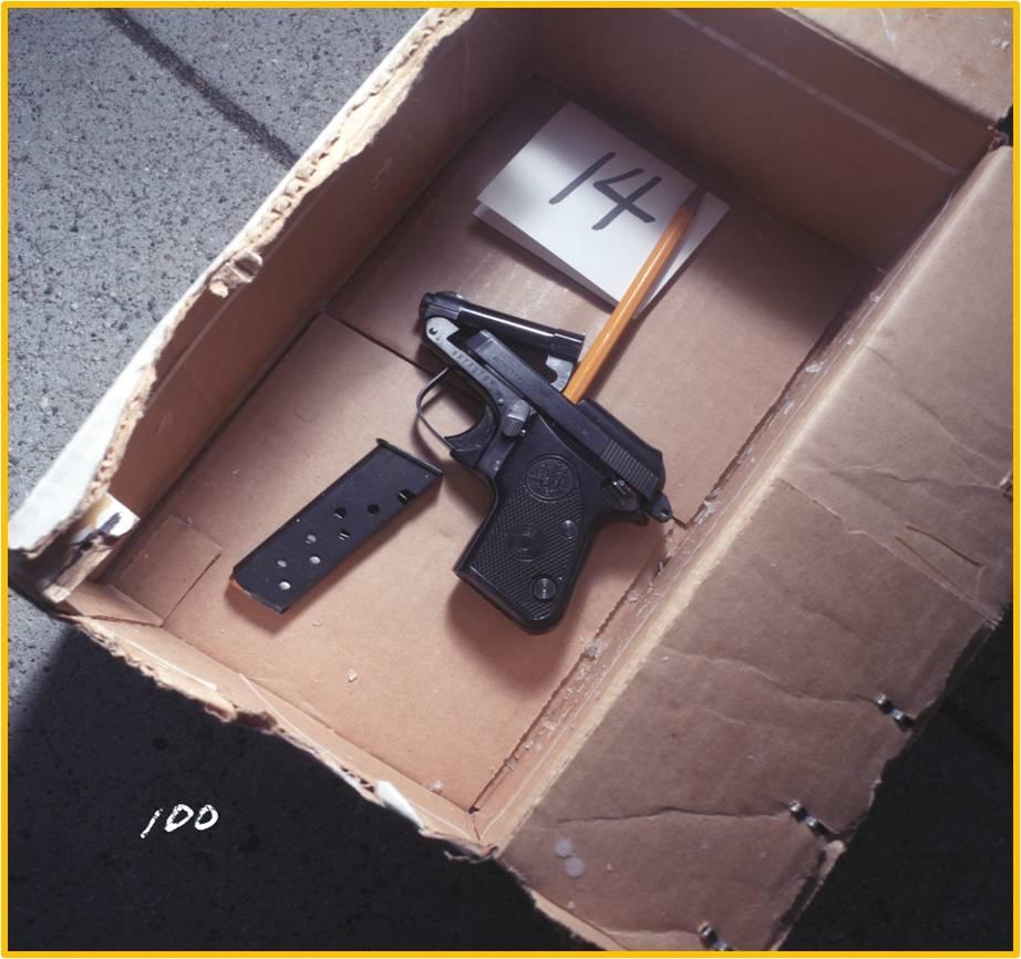 Jade Clark's .25 caliber pistol