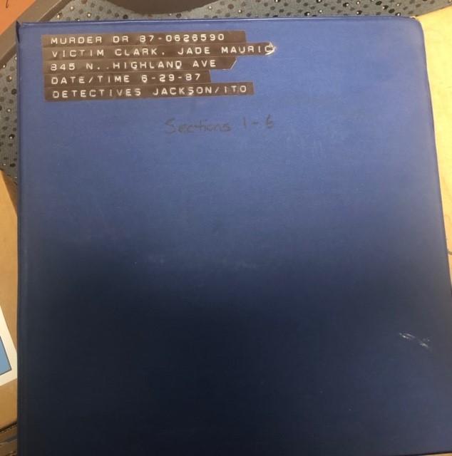 Murder book from the Jade Clark case
