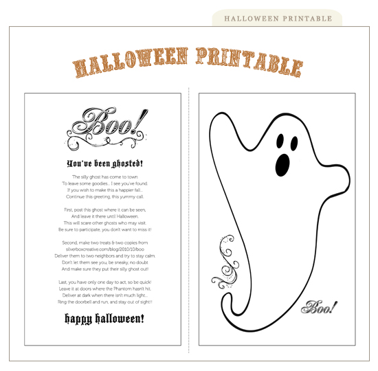 photo relating to Boo Printable named boo! youve been ghosted printable Silverbox