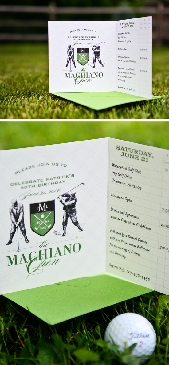 Inspired Birthday Invitation By Silverbox Golfinvite
