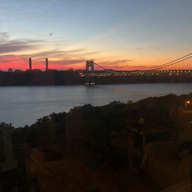 My views for the past almost-month. Survived NYC for this long! #newcity #nyc #gwb #wahi #sunset