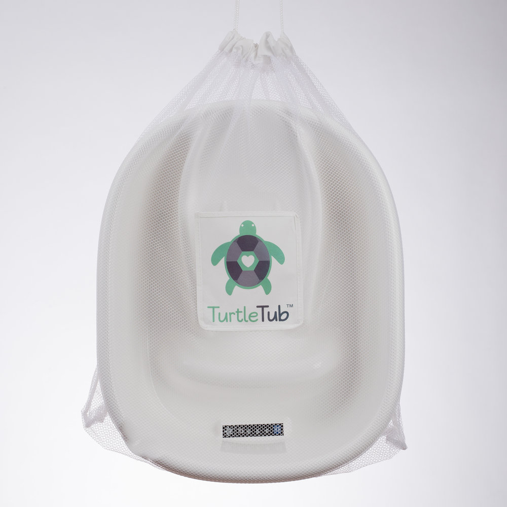 Mesh Storage Bag - Allows TurtleTub to be stored in a convenient place.