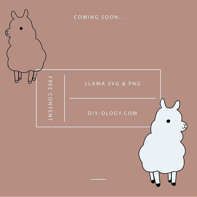 Because who doesn't like a #llama?! The site is nearly ready and we're excited to launch. Follow or subscribe to our website to find out the official launch date. We'll have fee free #svg #pngs for download. Perfect #cuttingfiles for #cricut #silhouettecameo for making your own #stickers #papercrafts #decals for all your #crafts and #diy projects!